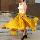 Womens Ladies 14mm 100% Silk Double Circumference Long Skirt Size S - Size 3XL