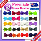 Mens Bowtie Satin Korean Silk Plain Bow Tie Wedding Tuxedo Groom Bestman Party