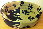 SOFT PAWS DOG / CAT SLEEPING CLOTH BASKETS 6 DIFFERENT CHOICES OF PET BED SIZES