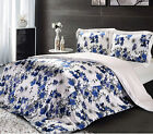 4 pcs 19M/M Seamless 100% Silk Duvet Cover Fitted Sheet Pillow Sham Set All Size