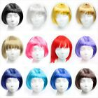 BOB style Party COSPLAY Short Hair wig Black Pink Blond