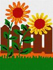 Sunflowers Needlepoint Kit or Canvas (Beginner /Kids /Floral /Flower /Nature)
