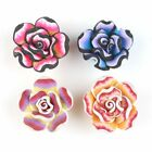 Charms Wholesale Colorful Rainbow Flowers Flatback Polymer Clay Beads Findings