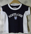Kids Scotland Flag Navy T-Shirt Top 100% Cotton