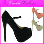 NEW LADIES STILETTO HIGH HEEL CONCEALED PLATFORM COURT SHOES SANDALS SIZE UK 3-8