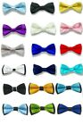Внешний вид - 31 Colors Boys Children Kids Solid Bowtie Groom Wedding Party Satin Bow Tie BCH
