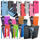 LEATHER FLIP CASE COVER FOR SAMSUNG GALAXY S S2 S3 ACE ACE 2 Y SCREEN PROTECTOR