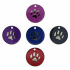 25mm Glitter Pet Tag Disc ID Dog Various Designs FREE ENGRAVING & DELIVERY