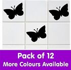 PACK OF 12 ! TILE TRANSFER STICKERS DECAL BATHROOM KITCHEN BUTTERFLY VINYL