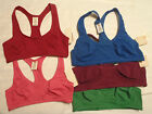 ARIZONA S-M-L-XL Green Blue Red Purple Rose Choice Racerback Sports Bra NWT