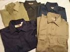 BIG MAC Mens Medium Tall Choice Blue Tan or Charcoal Button Work Shirt NWT