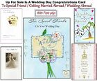 Wedding Day Congratulations Card Special Friend Married Abroad Special Free P&P
