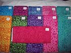 More geometric batik fabrics 100% cotton from India star bursts swirls squiggles