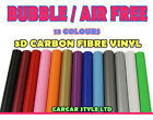 【AIR Free 10 Meter x 1520mm】ALL COLOUR【Carbon Fibre Vinyl】Wrap 3D Textured 4 CAR