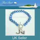 Personalised Freshwater Pearl Blue Bracelet 8 inch / 20cm, Ideal Gifts