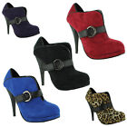 New Ladies Stiletto High Heel Platform Fashion Ankle Boots Size UK 3 4 5 6 7 8