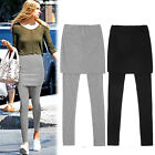 Skirt And Leggings for Women Pencil Straight Short Skirt With Tights Black GRAY