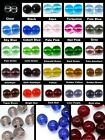 200 x 4mm / 100 x 6mm / 50 x 8mm Crystal Glass Round Beads - Various Colour