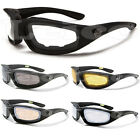 Choppers Men Rubberized Motorcycle Goggles Padded Sport Rider Sunglasses NEW