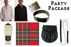 Party Package, Scottish Kilt, Complete Casual Outfit, Stewart Royal Tartan