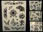 1x SHEET BLACK MENS ARTY CELTIC SUN TRIBAL BANDS 9 DESIGNS TEMPORARY TATTOOS UK
