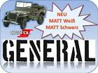 Willys Jeep General  Beschriftung US Army WW2 Farbanstrich Folienaufkleber JDM