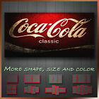 ' Coca Cola ' Modern Abstract Contempory Grunge Wall Art Canvas ~ More Style