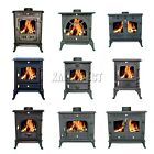 FoxHunter WoodBurner Cast Iron Log Burner MultiFuel Wood Burning Stove Mul-Model