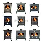 WoodBurner New Cast Iron Log Burner MultiFuel Wood Burning Stove Multi Models