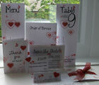 Handmade Personalised Wedding Stationery -  Hearts Butterfly invitations vellum