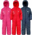 Trespass Drip Drop Childrens All In One Waterproof Breathable Padded Ski Suit