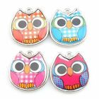 20/100pcs New Wholesale Colorful Owl Animal Charms Alloy Pendants Fit Craft