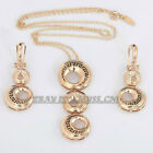 B1-S3024 Fashion 18K GP Earrings & Necklace Jewelry Set Use Swarovski Crystal