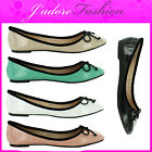 NEW LADIES FLAT BALLERINA PUMPS BALLET DOLLY SLIP ON LOAFERS SHOES SIZES UK 3-8
