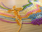 CROSS-Christian-Bookmark-Tatting-Frivolité-HANDMADE-Many colours-Beaded-Rare