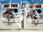 10 x Just Pike Fishing Snap Tackle Pike Traces Treble Hooks & 7 Strand Wire
