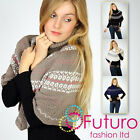 "☼ Winter Knitted Chunky Poncho ""Artemida"" ☼ Funnel Mantle Style Jumper Wrap Top"
