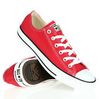 UNISEX NEW ALL STAR CHUCK TAYLOR CONVERSE OX LOW TRAINERS RED/WHITE M9696 UK 4,5