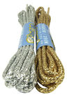 ROUND GOLD OR SILVER COLOURED SHOELACES - FREE 1st CLASS P&P!