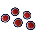 Mod Target Style Round Plastic Buttons - Northern Soul - Size Choice