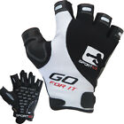 Sporteq Weight Lifting Fitness Leather Gym Training Gloves B/W