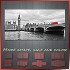 ' London Big Ben Thames River Red Bus ' Cityscape Canvas Print Wall Deco