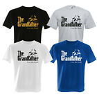THE GRANDFATHER - I RUN THIS FAMILY GOLD PRINTED / BLACK T SHIRT GODFATHER SIZES