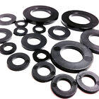 3mm BLACK THICK  NYLON PLASTIC  WASHERS TO SUIT M3 SCREWS & BOLTS, WASHER (FWS)