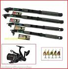 Shakespeare Reel Carbon Travel fishing Rod Spinner / Spinning Pack & Line