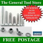 SET SCREWS FULL THREAD BOLTS WITH NUTS AND WASHERS M5 M6 M8 M10 M12 BZP