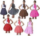 "1950'S FIFTIES ROCK AND ROLL ROCK N ROLL SKIRTS 50S FANCY DRESS 22"" LENGTH"