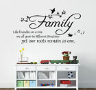 Family, like branches on a tree wall art decal sticker