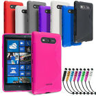 GRIP S-LINE SILICONE GEL CASE FITS NOKIA LUMIA 620 820 920 FREE SCREEN PROTECTOR