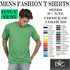 BRAND NEW MENS PLAIN FASHION T SHIRT - ALL SIZES COLOURS